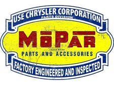 NEW Mopar Chrysler Scroll Large tin metal sign