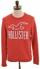 HOLLISTER Mens Sweatshirt Jumper Small Red Cotton  AB06