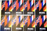 "Lot of 6 Polish vintage old magazines journals ""Mozaika"" 1976 yr. english 638sr"