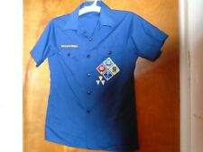 Cub Scouts Shirt Uniform Bsa Short Sleeves Patches Boy Scouts Youth Large Euc!