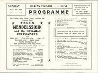 RHYL Queens 1951 Felix Mendelssohn, Fred Day, Cynthia Reed, Esme Lee  HL2.1355