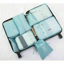 8PCS Travel Luggage Organiser Cube Clothes Storage Pouch Suitcase Packing Bags