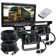 "4pin 12-24V 7"" Car Rear View Monitor + 2 CCD Backup Camera With 33ft Cable"