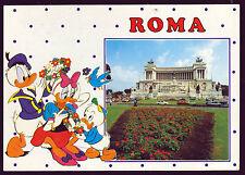 ROMA CARTOLINA ALTARE DELLA PATRIA FG VG 1990 - WALT DISNEY