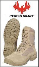 Phenix Gear Womens FAS Fast Assault Series Tan Combat Boots 11.5 W 11 1/2 Wide