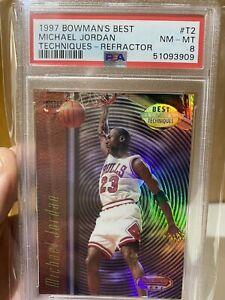 1997-98 Bowman's Best Techniques Refractor Michael Jordan #T2 PSA NM-MT 8