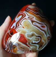 TOP 276.2G Natural Polished Banded Agate Crystal Madagascar Healing WA644