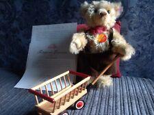 Steiff Teddy Bear With Wagon, Leiterwagen.