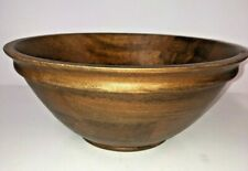 Pottery Barn Mill Wood Turned Bowl - Large Wooden Decorative Display Fruit NEW