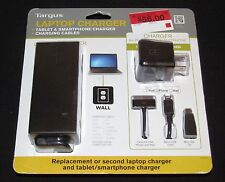 Targus 90W Power Adapter for Select Laptops & USB Charger for Most Apple Devices