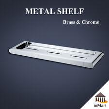 MIIKe36 Metal Shelf for Bathroom Shower Toilet Solid Brass Chrome Bracket Holder