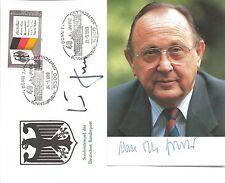 Autogramm Helmut Kohl auf Umschlag SSt 40 Jahre BRD + AK Genscher original 19-14