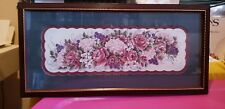 Vintage 11 x 21-1/2 Home Interior Floral Picture With Grapes. Retired
