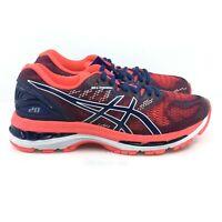 Asics - Women Gel Nimbus 20 Running Sneakers, Blue Print/Red T850N-400