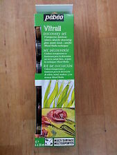 Pebeo Vitrail Discovery Set Paint On Glass/Metal/Wood Canvas 6 x 20ml Bottles