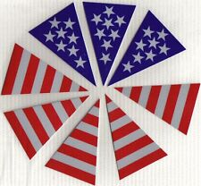 American Flag Trapezoid Decals Set of 8