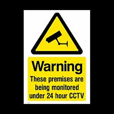 CCTV Sign, Sticker - 150mm x 200mm (A5) - Security, Camera, Warning (MISC10)