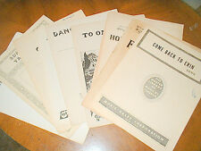 Lot 9 vintage Sheet Song Music from 1913 Whiting, Friml