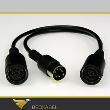AUX 7-pol Y Cable Splitter/Adaptor, distributor, T-Piece for b&o Bang & Olufsen