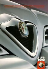 Alfa Romeo 166 Colour & Trim 1998-2001 UK Market Multilingual Foldout Brochure