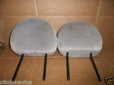 PEUGEOT 206 2004 HATCH FRONT HEADRESTS (GREY/CREAM - ADJUSTABLE)