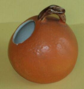 Orange Shaped Sugar Bowl with Brown Twig Handle