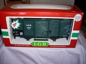 LGB 41352  train Green Box Car w/Steam Sound & Metal Wheels *G-Scale* (4135s)