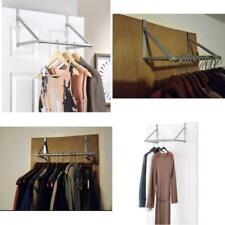 Clothes Hanging Bar Valet Hanger Rack Hook Space Saver Organizer Over The Door