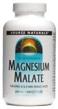 Source Naturals Magnésium Malate Capsules 625 MG Complément Alimentaire - 200