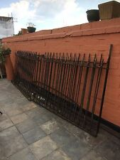 Heavy wrought iron Victorian railings