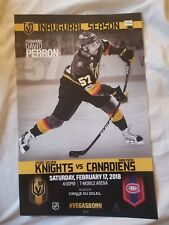 Vegas Golden Knights vs Montreal Canadiens Poster 2-17-18