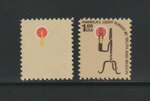 US EFO, ERROR Stamps: #1610a $1 Lamp. Brown omitted! XF MNH $200.00