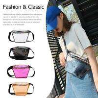 Fanny Pack Transparent Waist Belt PVC Chest Bag Fashion Women Hip Pouch #3YE