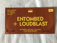 Ticket Concert ENTOMBED / LOUDBLAST Rare Paris 1993