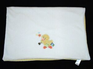 TAGGIES Duck Yellow White Baby Blanket Stars Plush Security Lovey 30 x 40