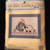Bucilla 40560411 by Daisy Kingdom Farm Bunny Cross Stitch Kit 7x5 Sealed New USA