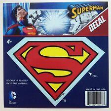 "DC Superman ""S"" Shield Logo Emblem Red Yellow Car Window Sticker Decal  5 1/2"""