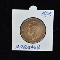 1945 George VI One Penny - Copper - Extremely Fine Condition