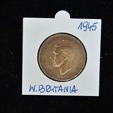 1945 Georgivs VI One Penny - Copper - Extremely Fine Condition