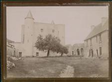 France, Vue d'un Château à identifier, ca.1900, Vintage citrate print Vinta