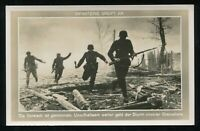 1941 Germany 3rd Reich Postcard German WWII Hitler Wehrmacht Grenadiers Attack