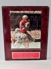 Ted Kwalick #82 San Francisco 49ers Tight End Autographed Photograph Wall Plaque