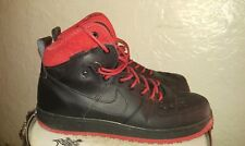 Nike AF1 Air Force One XXX Boots Size 11.5 Duckboot Rare Black Red Colorway 12