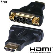 2x HDMI Male to DVI-D Single Link Female Digital Video Adapter Converter Black