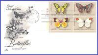 USA3 #1712-15 U/A ARTCRAFT FDC PB4  Butterflies