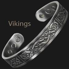 Viking Bracelet Men Copper Bracelet Magnetic Therapy Pain Relief Bangle - VP