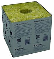 4 Pack Grodan Block Rockwool Cubes with Holes - Size 6 x 6 x 6 Inches ~Fast Ship