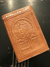 EUC!!! Beautiful Vintage Italian Tan Leather Embossed Bifold Wallet
