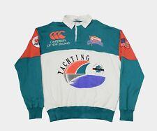 Vintage Canterbury of New Zealand Yatching Challenge 1992 Rugby Sweatshirt Teal
