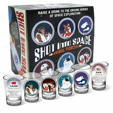 Shot Into Space Shot Glass Set of 6, Laika, Ham, More by Unemployed Philosophers